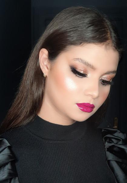prestation d'un maquillage réalisé par Morgane Rivet à Art Make Up